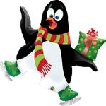 """Фигура из шаров """"Пингвин на коньках"""" - Шардеко"""