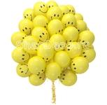 """Облако из шаров """"Смайлы желтые"""""""