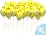Шары под потолок «Смайлы желтые»