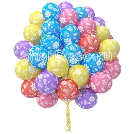 """Облако из шаров """"Цветы""""  - купить в Москве с доставкой  - Шардеко"""
