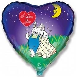 """""""Я люблю тебя"""" (влюбленные зайчата) - купить в Москве с доставкой  - Шардеко"""