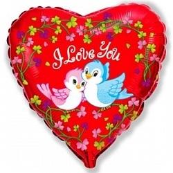 """""""Я люблю тебя"""" (влюбленные птички) - купить в Москве с доставкой  - Шардеко"""