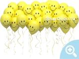Шары под потолок «Смайлы желтые» - Шардеко