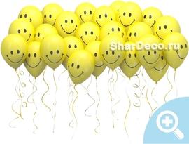 Шары под потолок «Смайлы желтые» - купить в Москве с доставкой  - Шардеко