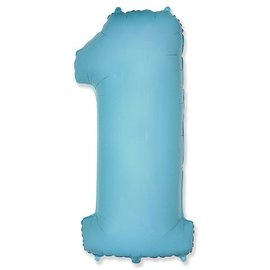Цифра 1 Пастель (голубая) - купить в Москве с доставкой  - Шардеко