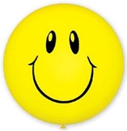 Большой шар «Смайл» (желтый) - купить в Москве с доставкой  - Шардеко