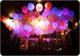 """Светодиодные шары на свадьбу """"Ассорти""""(шары со светодиодами под потолок) - Шардеко"""