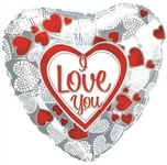 """Я люблю тебя"" (мозаика из сердечек) - Шардеко"