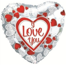 """""""Я люблю тебя"""" (мозаика из сердечек) - купить в Москве с доставкой  - Шардеко"""