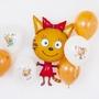 """Фольгированный шар """"Карамелька,три кота"""""""