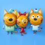 """Фольгированный шар """"Компот,три кота"""""""