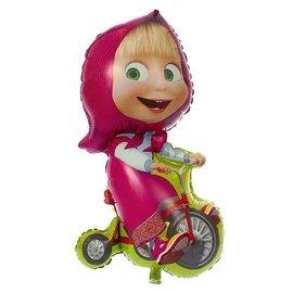 """Фольгированный шар """"Маша на велосипеде"""" - купить в Москве с доставкой  - Шардеко"""