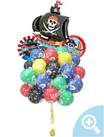 """Облако из шаров """"Пираты""""  - купить в Москве с доставкой  - Шардеко"""