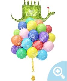 """Облако из шаров """"С Днём Рождения (Удав)"""" - купить в Москве с доставкой  - Шардеко"""
