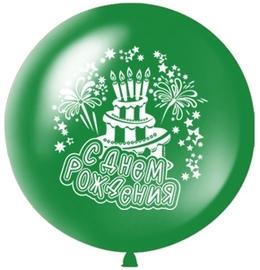 Большой шар «С днем рождения» (зеленый) - купить в Москве с доставкой  - Шардеко