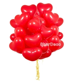 """Облако из шаров """"Красные сердца"""" - Шардеко"""