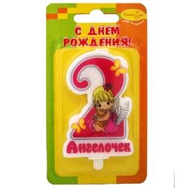 """Свеча Цифра """"2 Зайка"""" розовая - купить в Москве с доставкой  - Шардеко"""