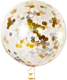Большой шар «Конфетти» (золото и серебро) - Шардеко